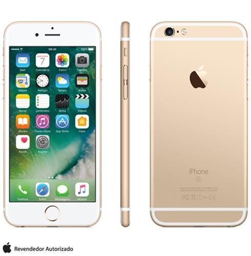 Iphone 6s Dourado, Com Tela de 4.7 4g, 16 Gb, e Câmera de 12 Mp - Mkql2br/a - Aemkql2bradrd Bivolt