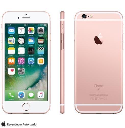 Iphone 6s Rosa Dourado, Com Tela de 4.7 4g, 16 Gb, e Câmera de 12 Mp - Mkqm2br/a - Aemkqm2brarsa Bivolt