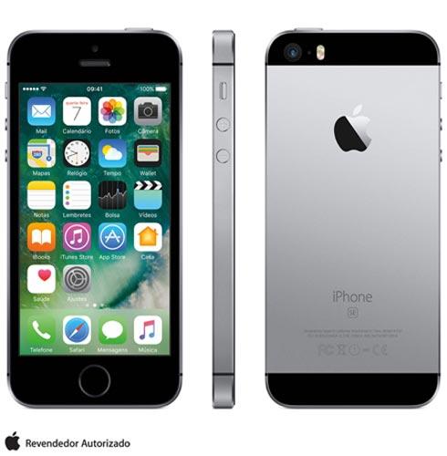 Iphone Se Cinza Espacial, Com Tela de 4, 4g, 64 Gb e Câmera de 12 Mp - Mlm62bz/a - Aemlm62bzacnz Bivolt