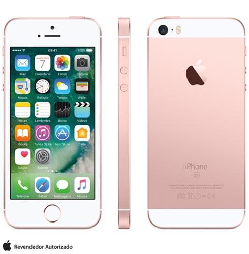 Iphone Se Rosa Dourado, Com Tela de 4, 4g, 64 Gb e Câmera de 12 Mp - Mlxq2bz/a - Aemlxq2bzarsa Bivolt