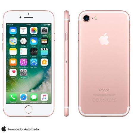 Iphone 7 Ouro Rosa Com Tela de 4,7, 4g, 32 Gb e Camera de 12 Mp - Mn912bz/a - Aemn912bzarsa Bivolt