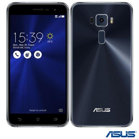 Zenfone 3 Preto Asus, com Tela de 5,2, 4G, 32 GB e Camera de 16 MP - ZE520KL